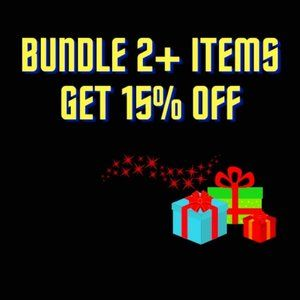 Bundle 2+ Items and 15% Off